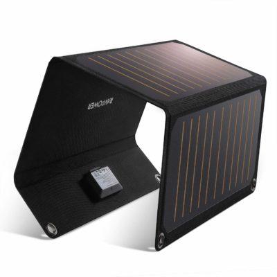 サステナブルな商品「RAVPower」の「ソーラーチャージャー」